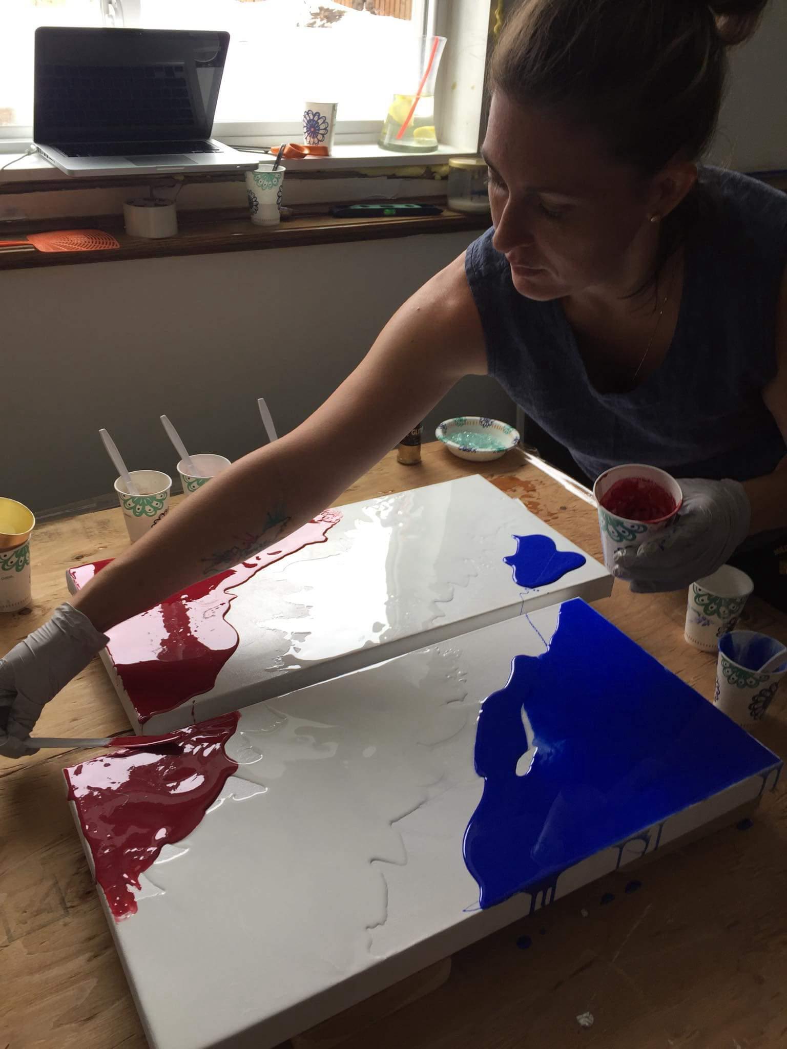 First Epoxy Resin Art Piece – happyreign